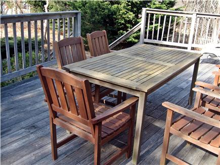 South Wellfleet Cape Cod vacation rental - Outdoor dining on the deck