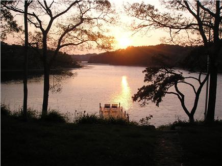 Chatham Cape Cod vacation rental - Sunset view from backyard