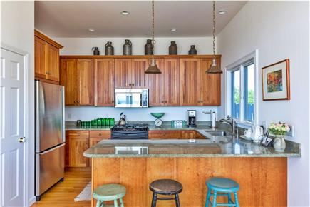 Eastham Cape Cod vacation rental - Cherry, stainless steel and granite kitchen