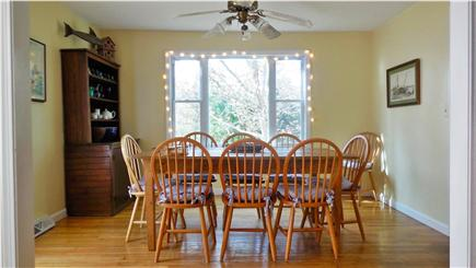 North Eastham Cape Cod vacation rental - Dining room, seats 8, overhead ceiling fan