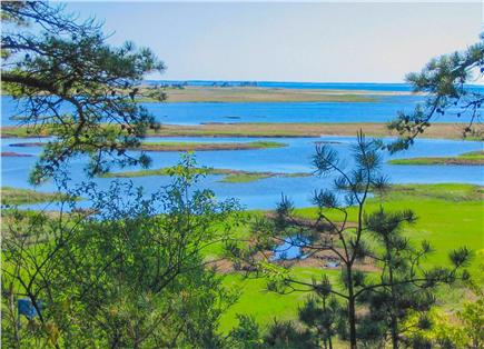 South Wellfleet Cape Cod vacation rental - View from the deck over Silver Spring Marsh and Cape Cod Bay.