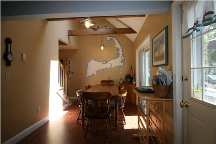 HarwichPort Cape Cod vacation rental - Dining area  - comfortable seating for 8 - walkout to deck & BBQs