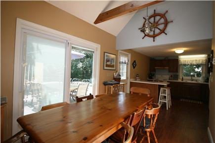HarwichPort Cape Cod vacation rental - Family meals: fully equipped kitchen & dining for 8, inside & out