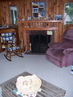 South Yarmouth/Bass River Cape Cod vacation rental - Living Room with Fireplace
