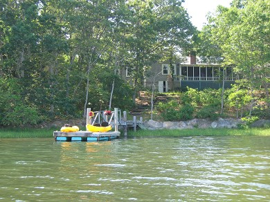 East Falmouth Cape Cod vacation rental - House viewed from the water