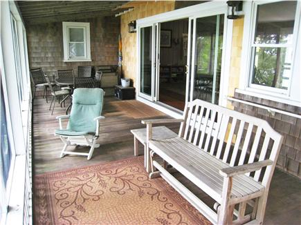 East Falmouth Cape Cod vacation rental - Screened porch with doors opened from living room, water view