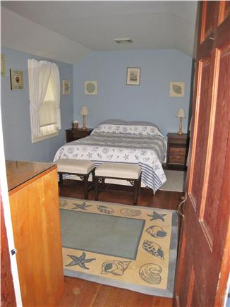 East Falmouth Cape Cod vacation rental - Blue bedroom, queen, neighboring half bath, water view