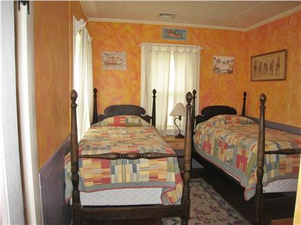 East Falmouth Cape Cod vacation rental - Twin bedroom, two twin beds, meadow view