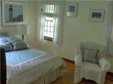 Harwich Port Cape Cod vacation rental - Master Bedroom with ceiling fan and bathroom