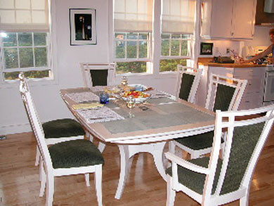 Truro Cape Cod vacation rental - Dining Area, Cathedral Ceiling, Seats 8-10.