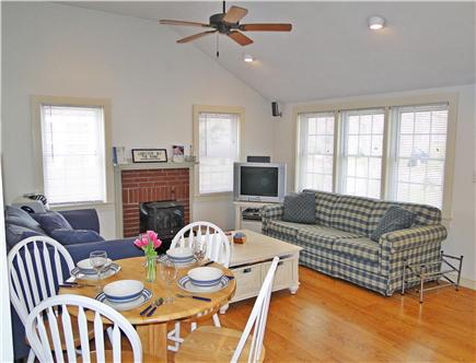 South Yarmouth/Bass River Cape Cod vacation rental - Bright, lofted living room with hardwood floors