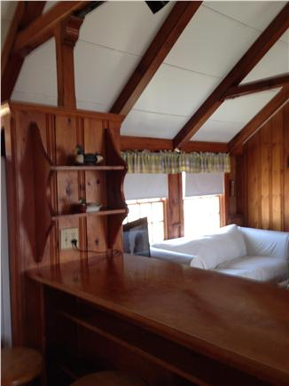 Chatham Cape Cod vacation rental - Cathedral ceiling living area-bar w/ 4 stools