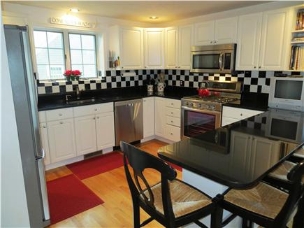Harwichport, south of Route 28 Cape Cod vacation rental - Fully Equipped Gourmet Kitchen - new Stainless Steel Appliances