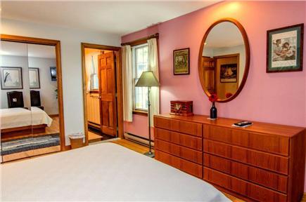 East Orleans Cape Cod vacation rental - Master Bedroom #1. Queen bed.  Scandinavian furniture.