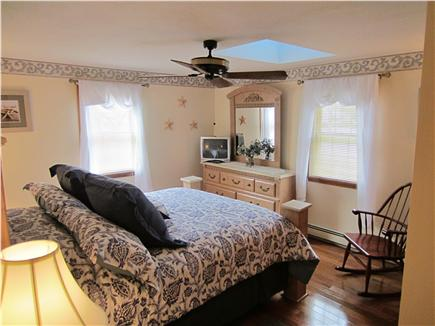 East Falmouth Cape Cod vacation rental - Master Bedroom w/ queen bed, A/C unit, ceiling fan