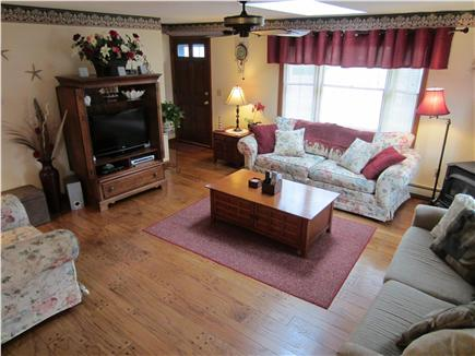 East Falmouth Cape Cod vacation rental - Cozy, comfortable, sunny Living Room with skylight