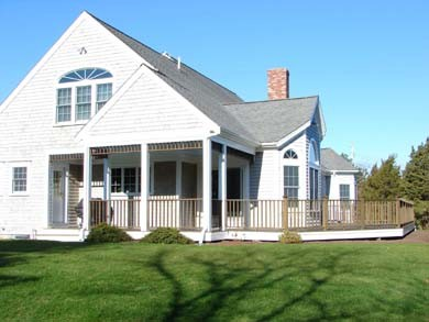 Chatham Cape Cod vacation rental - Spend hours relaxing on the huge deck that wraps around the house