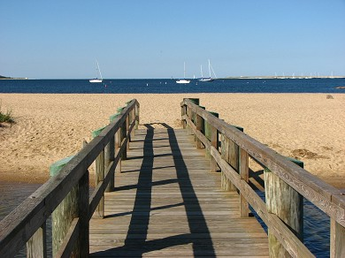 West Yarmouth Cape Cod vacation rental - Boardwalk to Standish Beach on Lewis Bay less than 1 mi away!