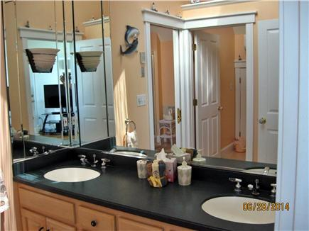 West Yarmouth Cape Cod vacation rental - Master Bath 2nd floor double vanity