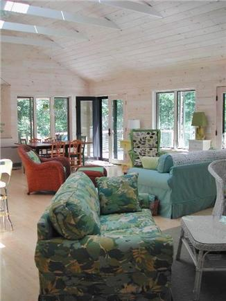 Wellfleet--Ocean Side Cape Cod vacation rental - Another view of the great room, dining area in rear corner