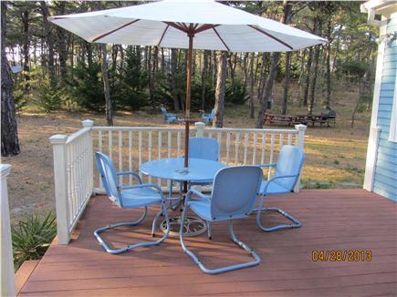 Wellfleet Cape Cod vacation rental - Backyard and deck