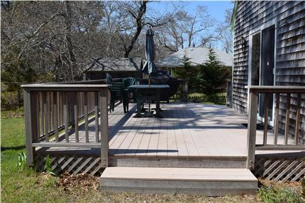 Brewster Cape Cod vacation rental - Large deck with grill