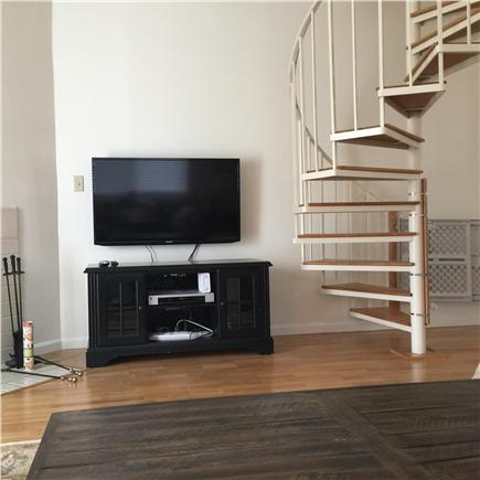 Brewster Cape Cod vacation rental - Spiral staircase to loft area