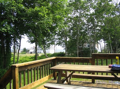 West Yarmouth Cape Cod vacation rental - View to Ocean from the deck.