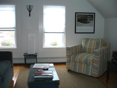 West End, Provincetown Cape Cod vacation rental - Comfortable living room with new furnishings