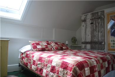 West End, Provincetown Cape Cod vacation rental - Back bedroom with skylight and queen bed