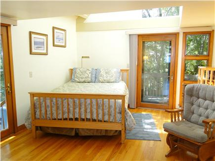 Plymouth MA vacation rental - First floor queen bedroom w/ private deck, bathroom