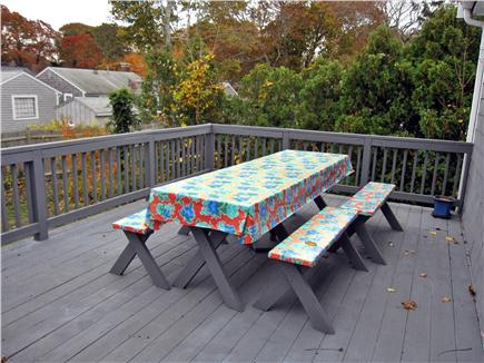 West Yarmouth Cape Cod vacation rental - Huge Side yard for games & regulation horseshoe pit just off deck
