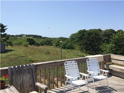 Truro Cape Cod vacation rental - View of National Seashore from the deck off the Great Room