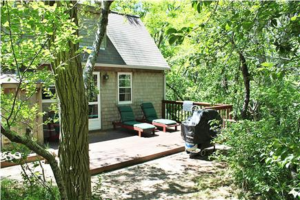 Wellfleet  Cape Cod vacation rental - The deck wraps around to outside shower
