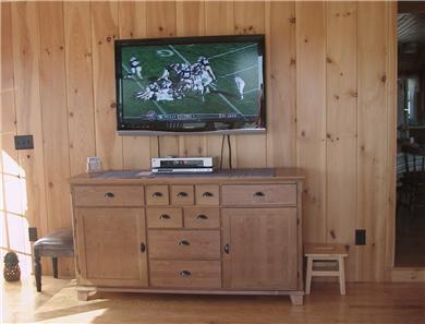 West Dennis Cape Cod vacation rental - Living room TV