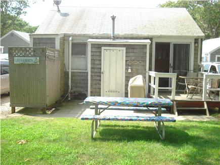 South Yarmouth Cape Cod vacation rental - Back porch and outdoor shower