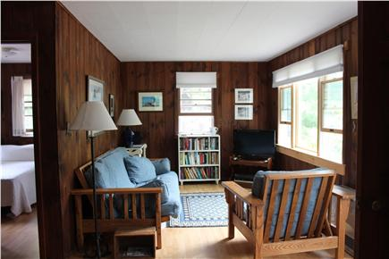 North Eastham Cape Cod vacation rental - Living area to right of front entrance