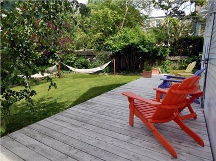 Provincetown, West End Cape Cod vacation rental - Very private yard, hammocks as seen from the back deck