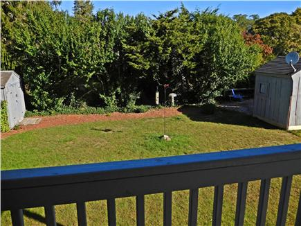 W. Dennis Cape Cod vacation rental - View of back yard from the deck