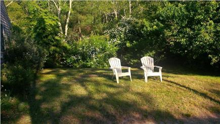 Wellfleet Cape Cod vacation rental - Side view of the yard