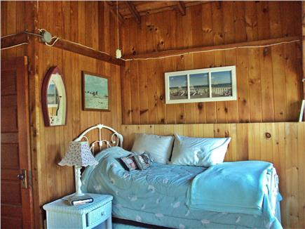 Dennisport Cape Cod vacation rental - Oversized bedroom upstairs has this day bed and queen bed & crib