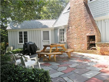 Harwich Port Cape Cod vacation rental - Enjoy outdoor dining on private back patio
