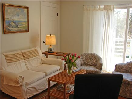East Orleans Cape Cod vacation rental - Sitting room offers stereo and sliders to deck