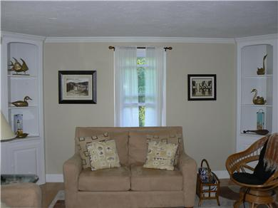Dennisport Cape Cod vacation rental - Beautifully appointed living room with fireplace