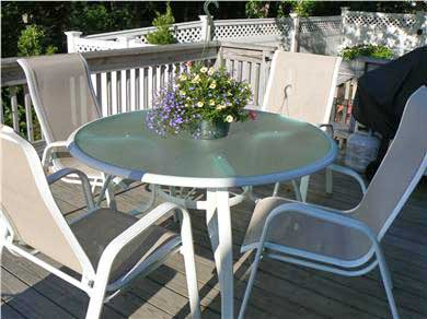Dennisport Cape Cod vacation rental - Exquisite back deck area for all your entertaining
