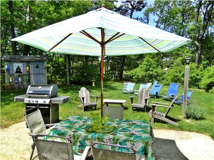 South Dennis Cape Cod vacation rental - Enjoy the private back yard and patio – great for dining and play