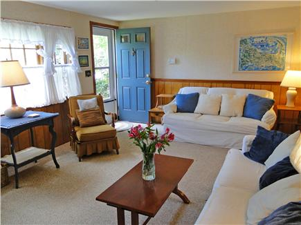 South Dennis Cape Cod vacation rental - Sunny and bright, gather together in the living room