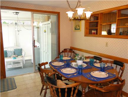 South Dennis Cape Cod vacation rental - Dining area with adjacent sun porch
