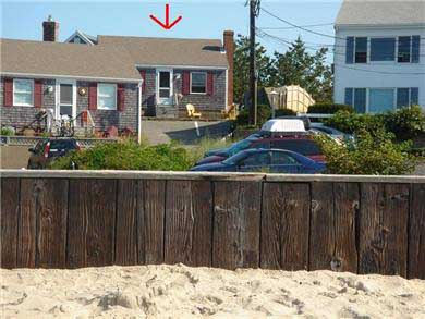 Dennisport Cape Cod vacation rental - View of Cottage from Beach