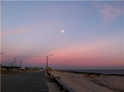 Dennisport Cape Cod vacation rental - Moon rise over Glendon Beach